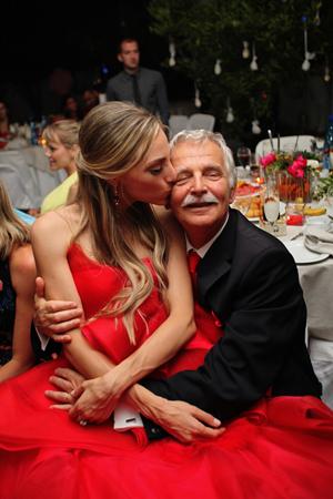 cb33530d08f6c Vera Wang red wedding dress wedding | Eirini & Yiannis