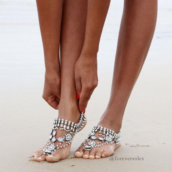 Barefoot Wedding Sandals For Brides Chic Amp Stylish Weddings
