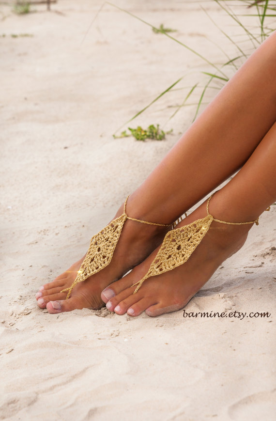 Barefoot Wedding Sandals For Brides