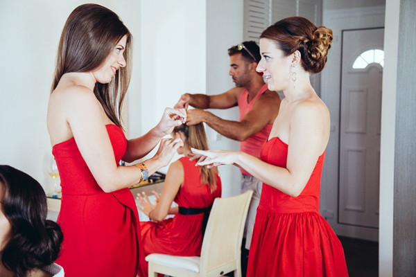 bridesmaids-dresses-red