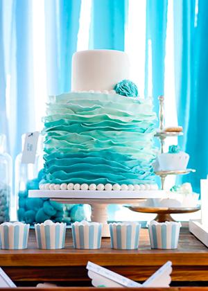 turquoise-wedding-cakes