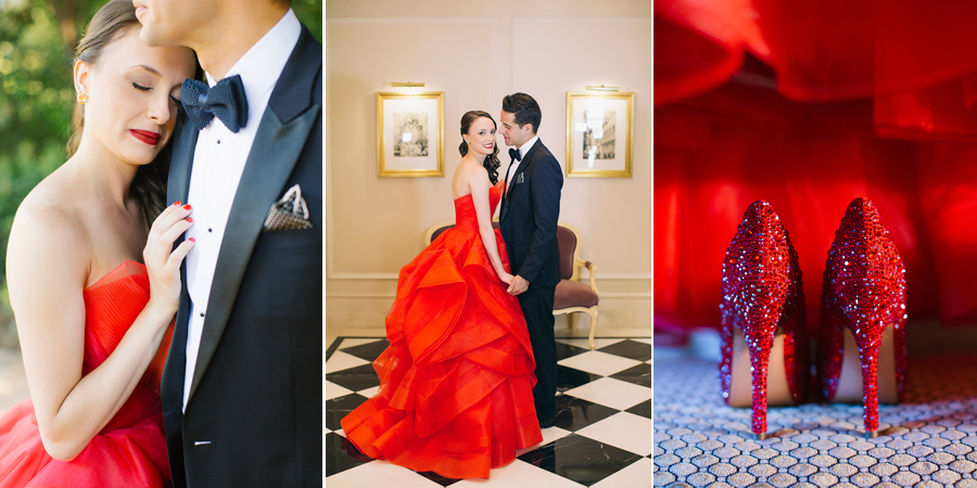 aa3961edefcc2 Elegant wedding with a stunning red Vera Wang wedding dress| Belinda & Jon  - Chic & Stylish Weddings