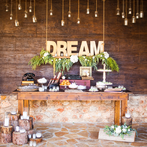 Rustic garden wedding ideas with rosemary helena for Rustic landscape ideas