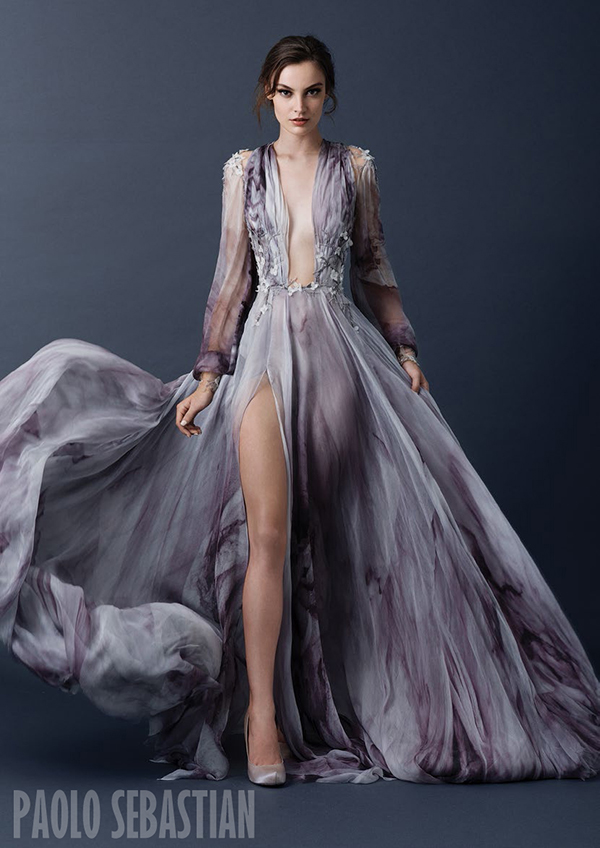 Sleeved-print-gown-Paolo-Sebastian