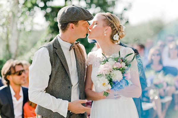 short-sleeved-A-line-wedding-dress