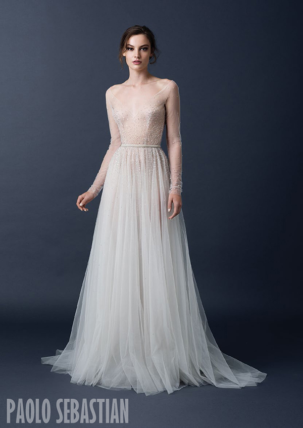 Sleeved Ball Gown Paolo Sebastian