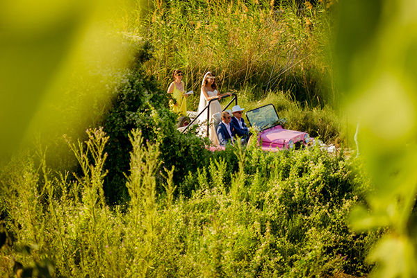 wedding-island-car-bride