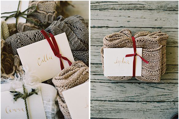 Wool Blankets Unique Wedding Favours