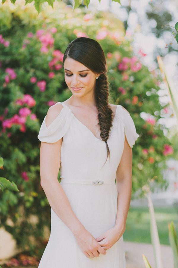 Ivory-Silk-Crepe-Draped-Sleeve-Wedding-Gown (1)