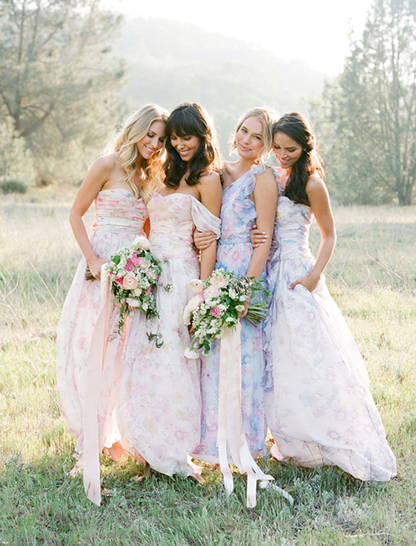 floral-print-pastel-bridesmaid-dresses