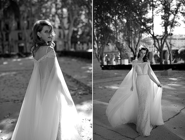 Wedding Gown With Cape: Berta Bridal Spring / Summer 2016