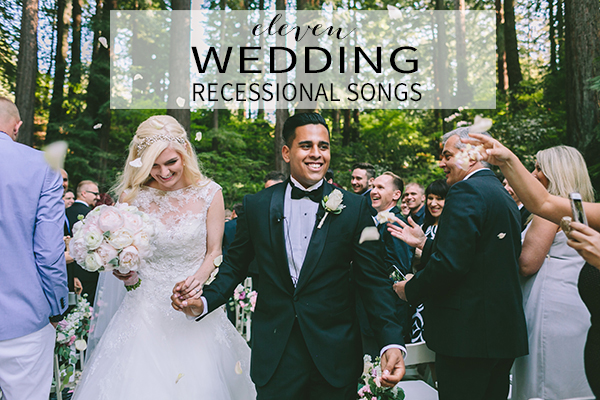 11 wedding recessional songs chic stylish weddings