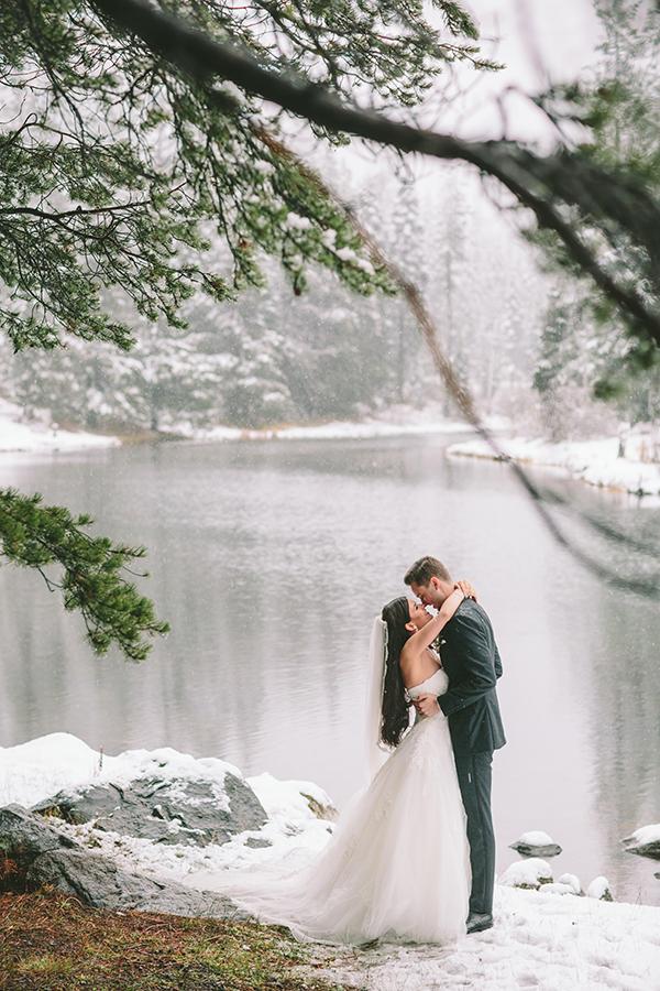 Winter wedding at Lake Tahoe | Solomita & Cameron - Chic ...
