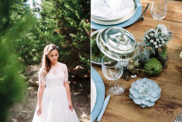 Three-Quarter-Sleeve-Wedding-Dress