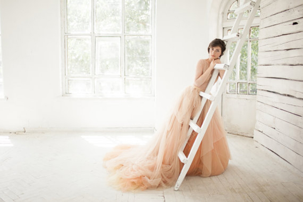 nude-tulle-wedding-gown
