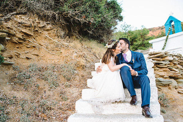Rustic beach wedding in Greece| Anna & Stefanos