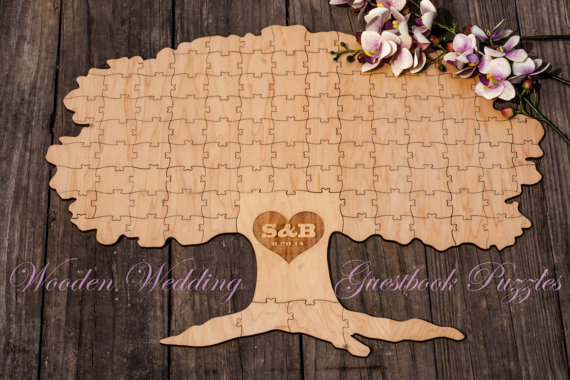 Alternative Wooden Wedding Guest Book - Chic & Stylish Weddings