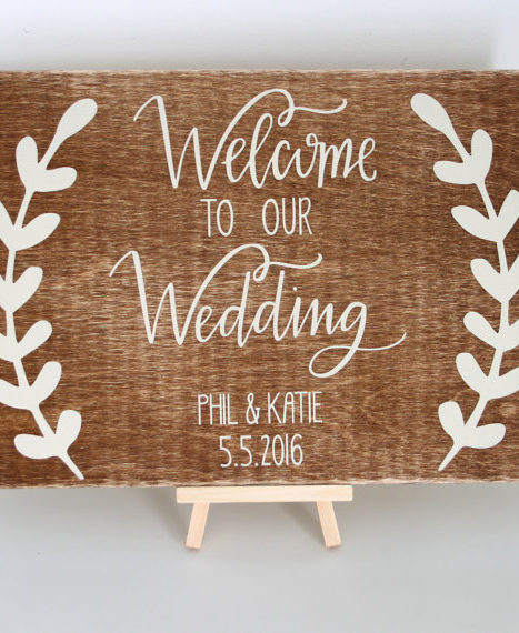 Printable Wedding Sign, Watercolor Sign, Welcome To Our Wedding Sign ...