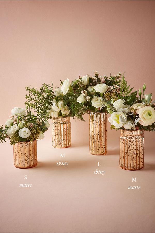 Blushed Mercury Vases Chic Stylish Weddings
