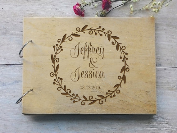 Personalised Wedding Guest Book Chic Stylish Weddings