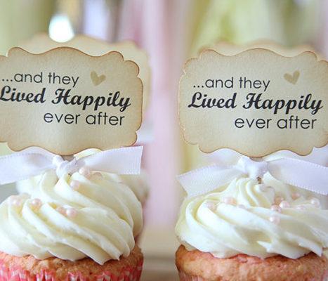 Wedding cupcake toppers chic stylish weddings wedding cupcake toppers junglespirit Choice Image