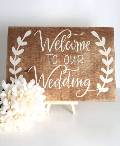 Welcome To Our Wedding Sign - Chic & Stylish Weddings