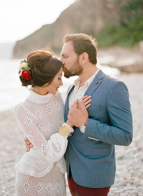 Boho beach wedding photoshoot