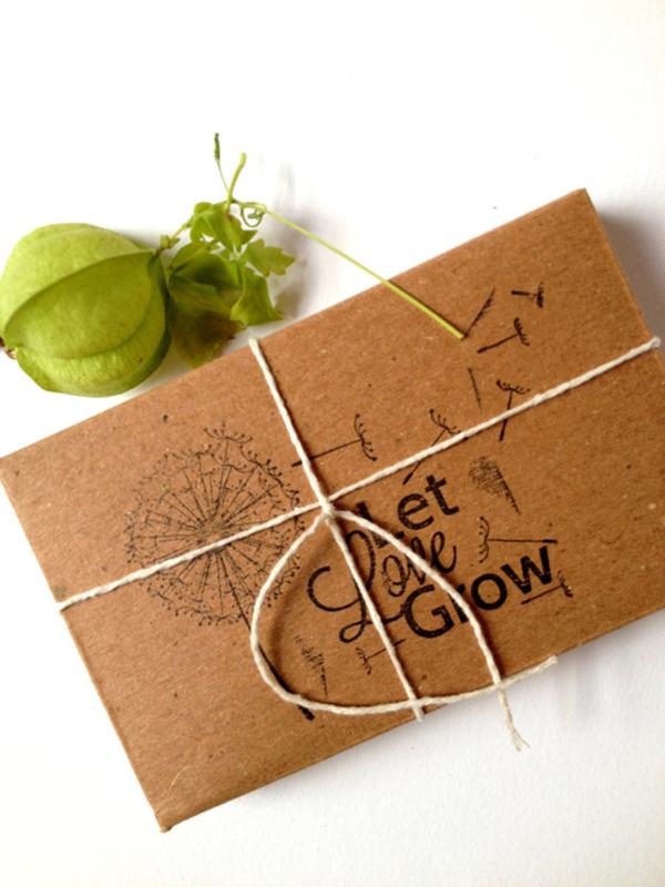 Custom Wedding Favor Seed Kit