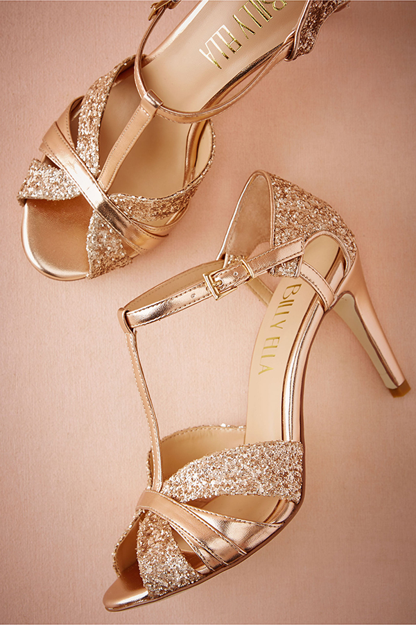 Champagne Coloured Shoes Low Heel