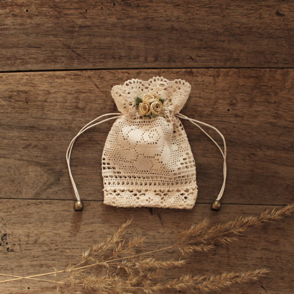 Lace Wedding Favor Bag