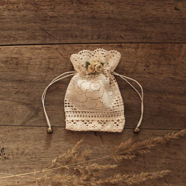 Lace Wedding Favor Bag