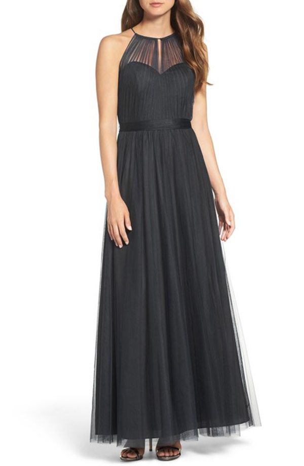 Tulle Halter Neck Gown