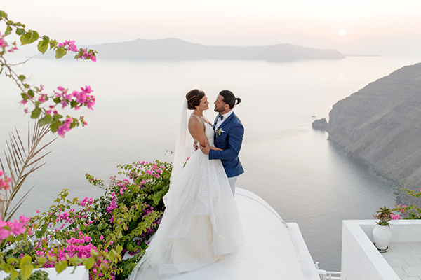 Whimsical destination wedding in Santorini | Nyree & Damiano