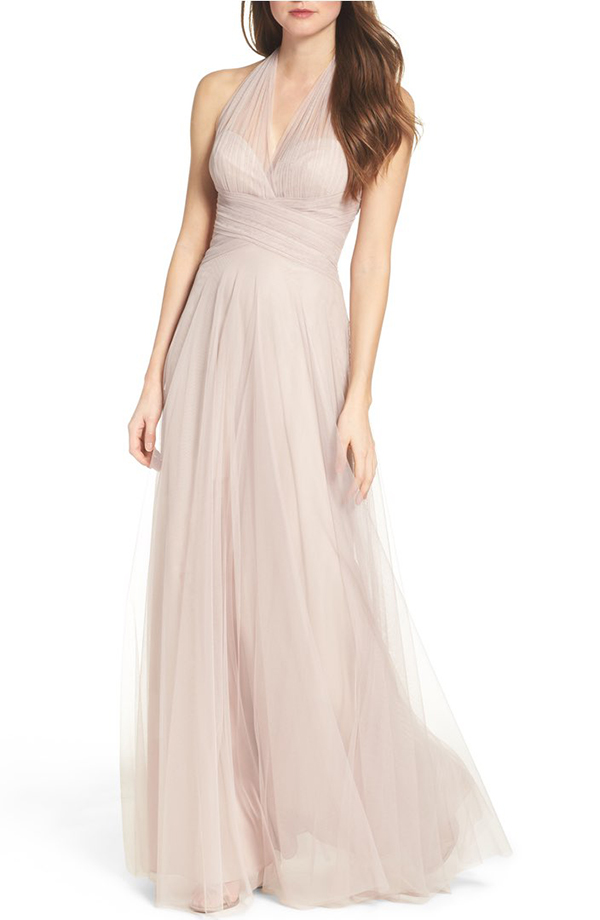 Halter Tulle A-Line Gown