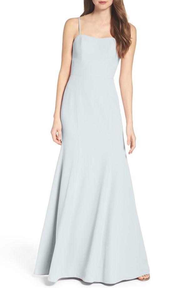 Convertible Strap Chiffon Gown