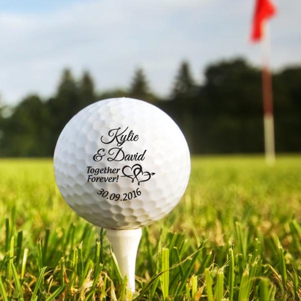 Printed Wedding Golf Balls