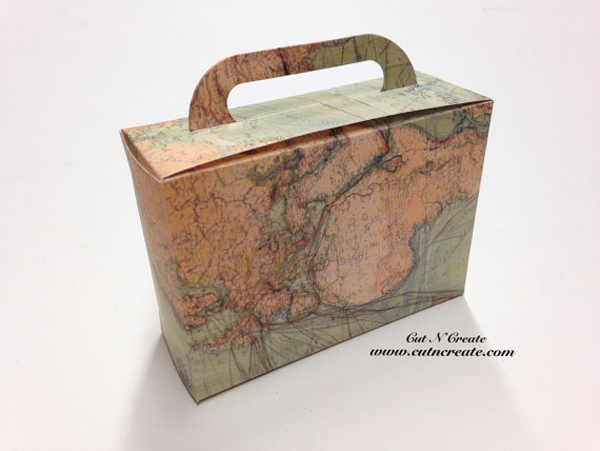 Suitcase Favor Box