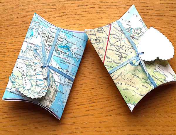 Travel Theme Favor Boxes