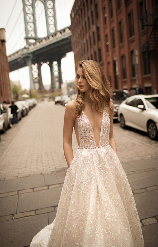 plunging-neckline-berta-2018-wedding-dress