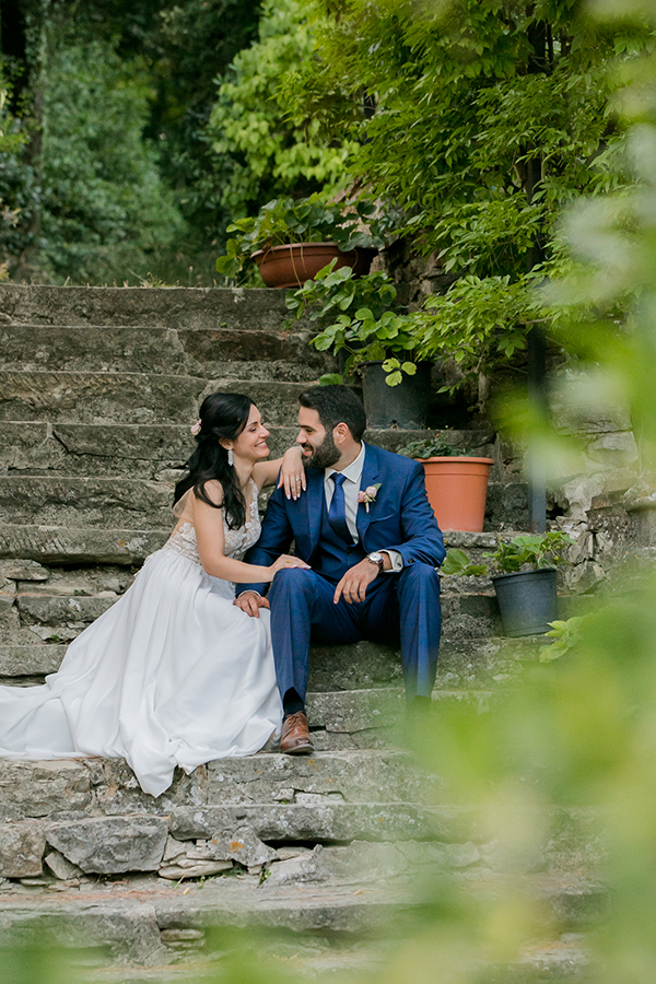 Romantic destination wedding in Italy
