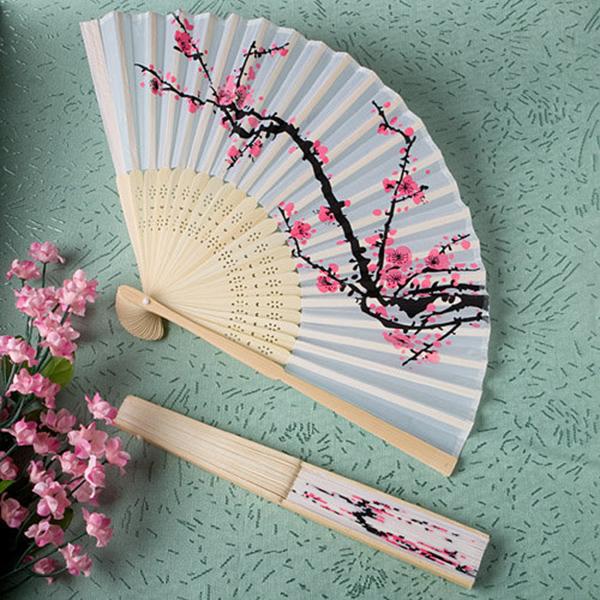 Cherry Blossom Silk Fans