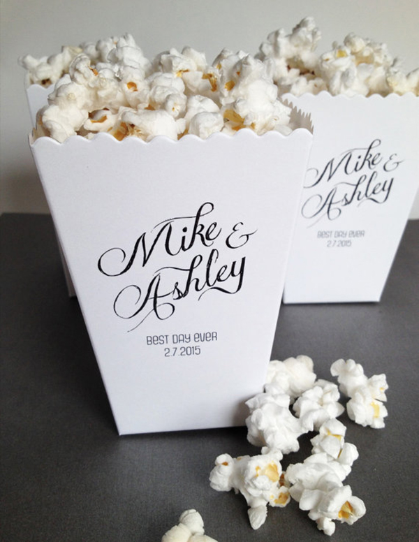 Custom Printed Mini Popcorn Box
