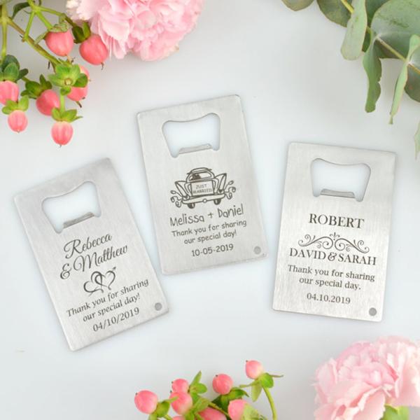 Engraved Credit Card Bottle Opener