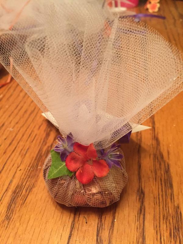 Flower Bulb Tulle Wedding Favors