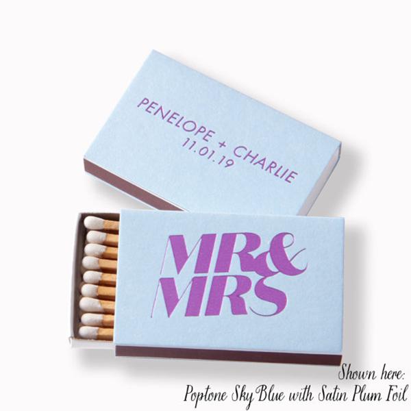 MR & MRS Matchboxes