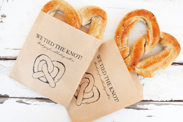 Wedding Favor Pretzel Bags