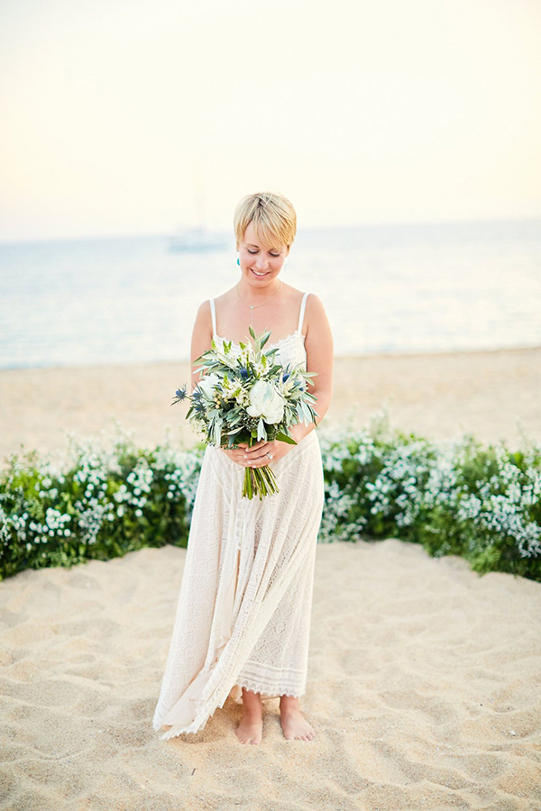 Natural Beach Wedding Greece 5X