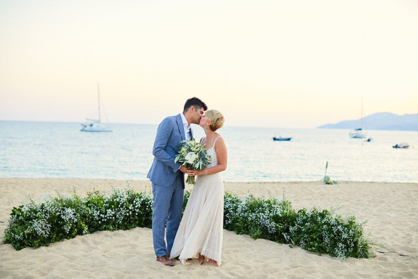 Natural Beach Wedding In Greece