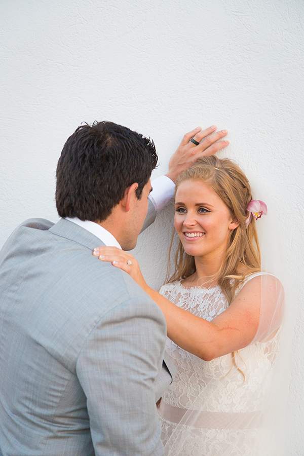 Pink and gold wedding in Santorini | Shannon & Ray