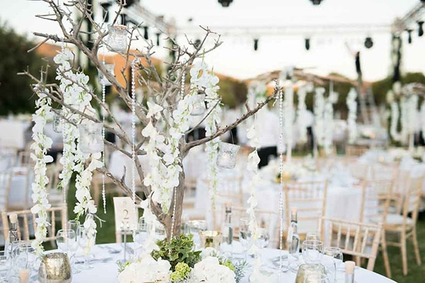 Chic Gold White And Peach Wedding In Greece Christine Andoni